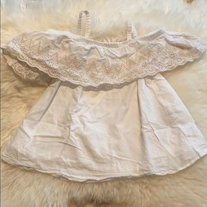Two size 2T cream tops